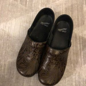 Gorgeous Floral Embossed Dansko Clogs